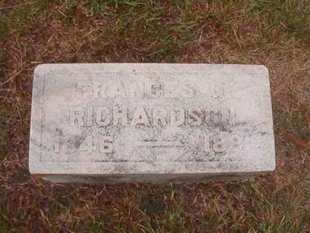 RICHARDSON, MARY FRANCES - Ouachita County, Louisiana | MARY FRANCES RICHARDSON - Louisiana Gravestone Photos