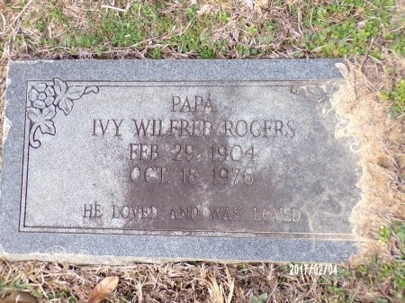 ROGERS, IVY WILFRED - Ouachita County, Louisiana | IVY WILFRED ROGERS - Louisiana Gravestone Photos