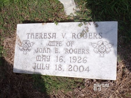 ROGERS, THERESA V - Ouachita County, Louisiana | THERESA V ROGERS - Louisiana Gravestone Photos