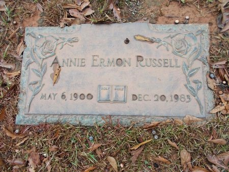 RUSSELL, ANNIE ERMON - Ouachita County, Louisiana | ANNIE ERMON RUSSELL - Louisiana Gravestone Photos