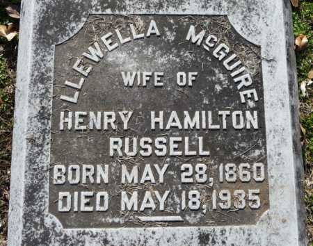 MCGUIRE RUSSELL, LLEWELLA - Ouachita County, Louisiana | LLEWELLA MCGUIRE RUSSELL - Louisiana Gravestone Photos