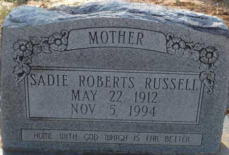 RUSSELL, SADIE - Ouachita County, Louisiana | SADIE RUSSELL - Louisiana Gravestone Photos
