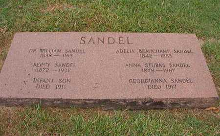 SANDEL, GEORGIANNA - Ouachita County, Louisiana | GEORGIANNA SANDEL - Louisiana Gravestone Photos