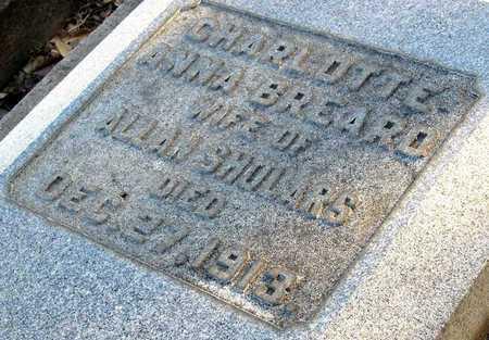 BREARD SHOLARS, CHARLOTTE ANNA (CLOSE UP) - Ouachita County, Louisiana | CHARLOTTE ANNA (CLOSE UP) BREARD SHOLARS - Louisiana Gravestone Photos
