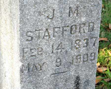 STAFFORD, J M (CLOSE UP) - Ouachita County, Louisiana | J M (CLOSE UP) STAFFORD - Louisiana Gravestone Photos