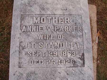 PARKER STANDLEY, ANNIE V - Ouachita County, Louisiana | ANNIE V PARKER STANDLEY - Louisiana Gravestone Photos