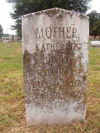 DIXON STRONG, KATHERINE - Ouachita County, Louisiana | KATHERINE DIXON STRONG - Louisiana Gravestone Photos