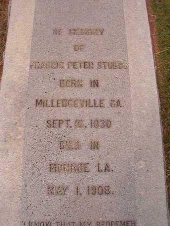 STUBBS, FRANCIS PETER - Ouachita County, Louisiana | FRANCIS PETER STUBBS - Louisiana Gravestone Photos