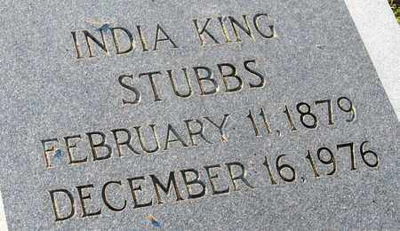 KING STUBBS, INDIA (CLOSE UP) - Ouachita County, Louisiana | INDIA (CLOSE UP) KING STUBBS - Louisiana Gravestone Photos