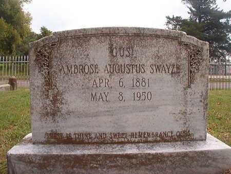 """SWAYZE, AMBROSE AUGUSTUS """"GUS"""" - Ouachita County, Louisiana   AMBROSE AUGUSTUS """"GUS"""" SWAYZE - Louisiana Gravestone Photos"""