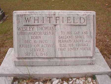 WHITFIELD, WESLEY THOMAS (VETERAN) - Ouachita County, Louisiana | WESLEY THOMAS (VETERAN) WHITFIELD - Louisiana Gravestone Photos