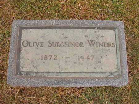 SURGHNOR WINDES, OLIVE - Ouachita County, Louisiana | OLIVE SURGHNOR WINDES - Louisiana Gravestone Photos