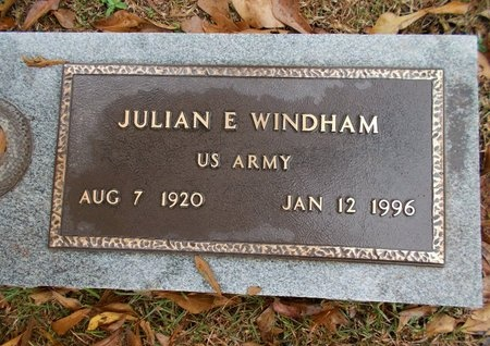 WINDHAM, JULIAN E (VETERAN) - Ouachita County, Louisiana | JULIAN E (VETERAN) WINDHAM - Louisiana Gravestone Photos
