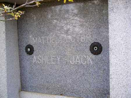 JACK, MATTIE A (CLOSEUP) - Rapides County, Louisiana | MATTIE A (CLOSEUP) JACK - Louisiana Gravestone Photos