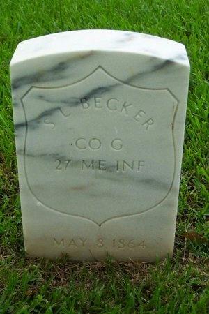 BECKER, S L  (VETERAN UNION) - Rapides County, Louisiana | S L  (VETERAN UNION) BECKER - Louisiana Gravestone Photos
