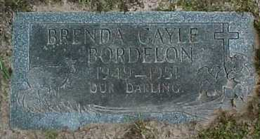 BORDELON, BRENDA GAYLE - Rapides County, Louisiana | BRENDA GAYLE BORDELON - Louisiana Gravestone Photos