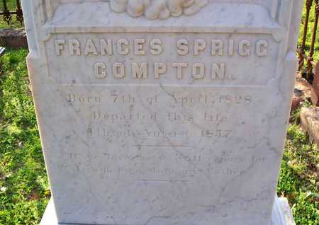 COMPTON, FRANCES (CLOSEUP) - Rapides County, Louisiana | FRANCES (CLOSEUP) COMPTON - Louisiana Gravestone Photos