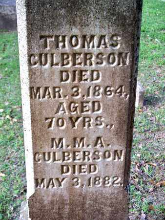CULBERSON, M M A - Rapides County, Louisiana   M M A CULBERSON - Louisiana Gravestone Photos