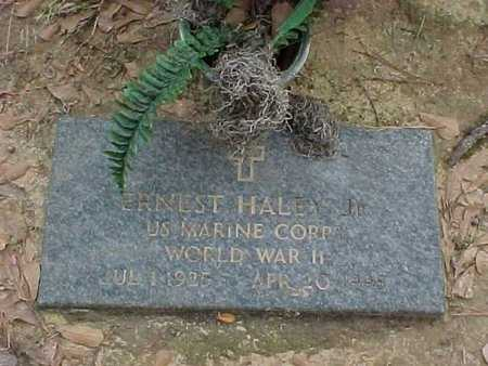 HALEY, ERNEST, JR (VETERAN WWII) - Rapides County, Louisiana   ERNEST, JR (VETERAN WWII) HALEY - Louisiana Gravestone Photos