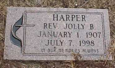 HARPER, JOLLY B, REV - Rapides County, Louisiana | JOLLY B, REV HARPER - Louisiana Gravestone Photos