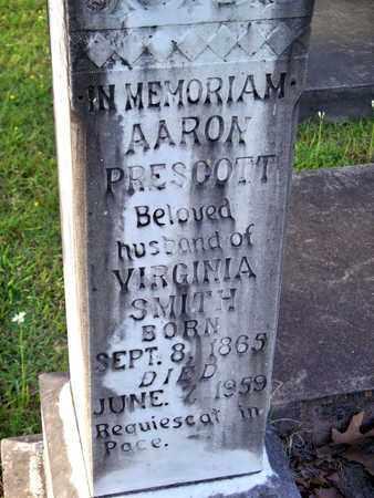 PRESCOTT, AARON (CLOSEUP) - Rapides County, Louisiana   AARON (CLOSEUP) PRESCOTT - Louisiana Gravestone Photos