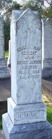 HERBERT ROBINSON, AUGUSTA MAY - Rapides County, Louisiana | AUGUSTA MAY HERBERT ROBINSON - Louisiana Gravestone Photos