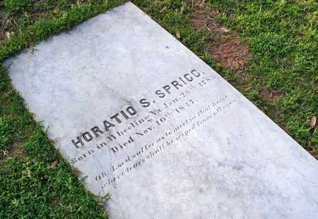 SPRIGG, HORATIO S - Rapides County, Louisiana | HORATIO S SPRIGG - Louisiana Gravestone Photos