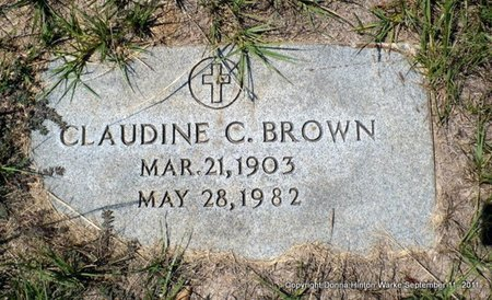 BROWN, ALMA CLAUDINE - Red River County, Louisiana   ALMA CLAUDINE BROWN - Louisiana Gravestone Photos
