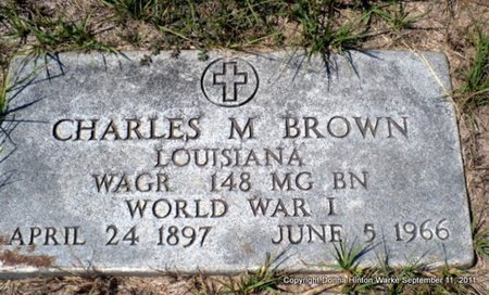 BROWN, CHARLES MILTON (VETERAN WWI) - Red River County, Louisiana | CHARLES MILTON (VETERAN WWI) BROWN - Louisiana Gravestone Photos