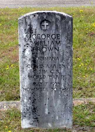 BROWN, GEORGE WILLIAM (VETERAN WWII) - Red River County, Louisiana | GEORGE WILLIAM (VETERAN WWII) BROWN - Louisiana Gravestone Photos