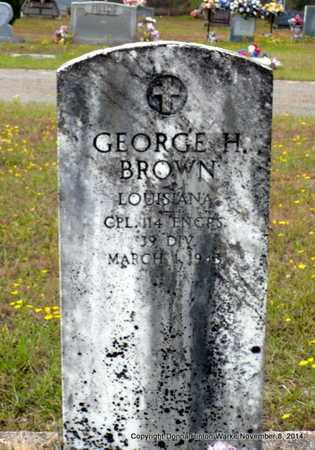 BROWN, GEORGE H (VETERAN WWI) - Red River County, Louisiana | GEORGE H (VETERAN WWI) BROWN - Louisiana Gravestone Photos