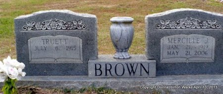 BROWN, MERCILLE J - Red River County, Louisiana | MERCILLE J BROWN - Louisiana Gravestone Photos