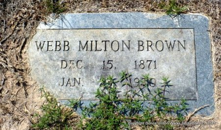 BROWN, WEBB MILTON - Red River County, Louisiana | WEBB MILTON BROWN - Louisiana Gravestone Photos