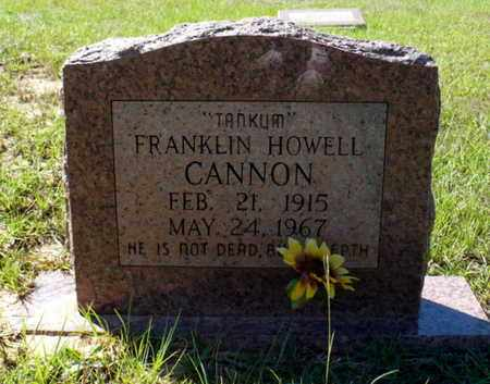 """CANNON, FRANKLIN HOWELL """"TANKUM"""" - Red River County, Louisiana 
