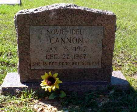 CANNON, NOVIE IDELL - Red River County, Louisiana | NOVIE IDELL CANNON - Louisiana Gravestone Photos