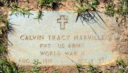HARVILLE, CALVIN TRACY (VETERAN WWII) - Red River County, Louisiana | CALVIN TRACY (VETERAN WWII) HARVILLE - Louisiana Gravestone Photos