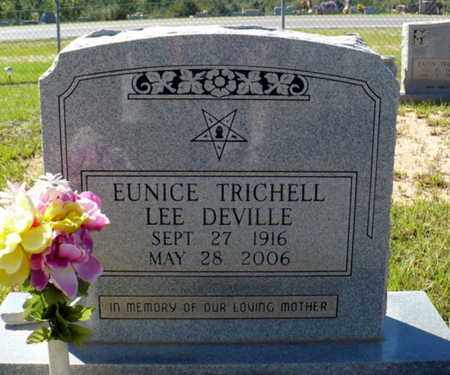 TRICHELL DEVILLE, EUNICE - Red River County, Louisiana | EUNICE TRICHELL DEVILLE - Louisiana Gravestone Photos