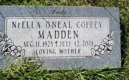 """MADDEN, NEELLA O'NEAL """"LADY"""" - Red River County, Louisiana   NEELLA O'NEAL """"LADY"""" MADDEN - Louisiana Gravestone Photos"""