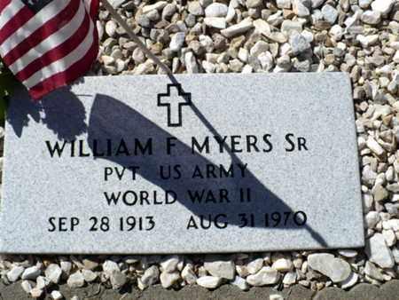 MYERS, WILLIAM F, SR (VETERAN WWII) - Red River County, Louisiana | WILLIAM F, SR (VETERAN WWII) MYERS - Louisiana Gravestone Photos