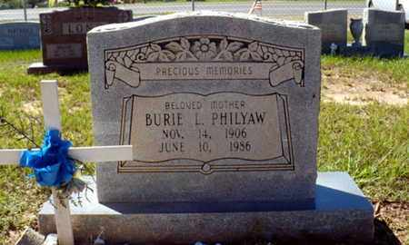PHILYAW, BURIE - Red River County, Louisiana | BURIE PHILYAW - Louisiana Gravestone Photos