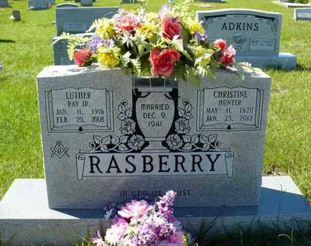 HUNTER RASBERRY, CHRISTINE - Red River County, Louisiana | CHRISTINE HUNTER RASBERRY - Louisiana Gravestone Photos