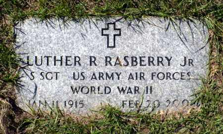 RASBERRY, LUTHER RAY, JR (VETERAN WWII) - Red River County, Louisiana | LUTHER RAY, JR (VETERAN WWII) RASBERRY - Louisiana Gravestone Photos