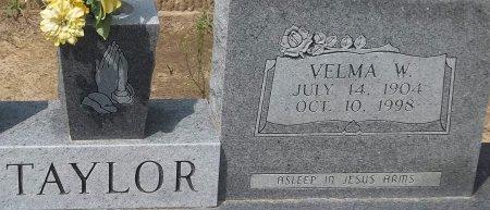 TAYLOR, VELMA W (CLOSE UP) - Richland County, Louisiana | VELMA W (CLOSE UP) TAYLOR - Louisiana Gravestone Photos