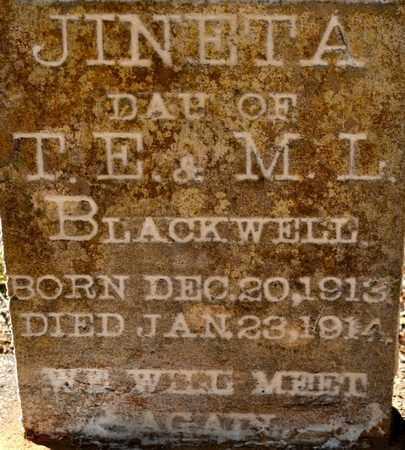 BLACKWELL, JINETA (CLOSEUP) - Sabine County, Louisiana | JINETA (CLOSEUP) BLACKWELL - Louisiana Gravestone Photos