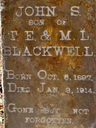 BLACKWELL, JOHN S (CLOSEUP) - Sabine County, Louisiana | JOHN S (CLOSEUP) BLACKWELL - Louisiana Gravestone Photos
