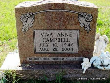 SKINNER CAMPBELL, VIVA ANNE - Sabine County, Louisiana | VIVA ANNE SKINNER CAMPBELL - Louisiana Gravestone Photos