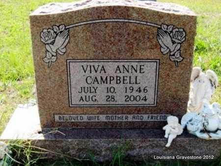 CAMPBELL, VIVA ANNE - Sabine County, Louisiana | VIVA ANNE CAMPBELL - Louisiana Gravestone Photos