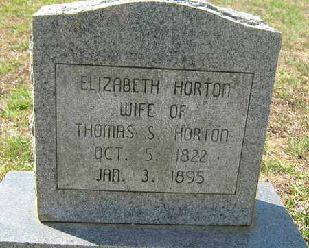 HORTON, ELIZABETH - Sabine County, Louisiana | ELIZABETH HORTON - Louisiana Gravestone Photos