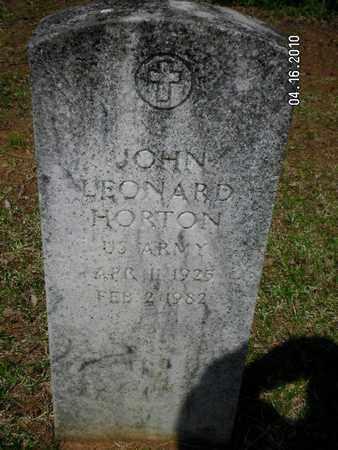 HORTON, JOHN LEONARD (VETERAN ) - Sabine County, Louisiana | JOHN LEONARD (VETERAN ) HORTON - Louisiana Gravestone Photos