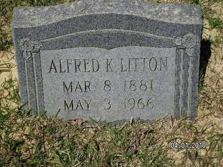 LITTON, ALFRED K - Sabine County, Louisiana   ALFRED K LITTON - Louisiana Gravestone Photos